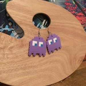 PAC-man Dangle Earrings